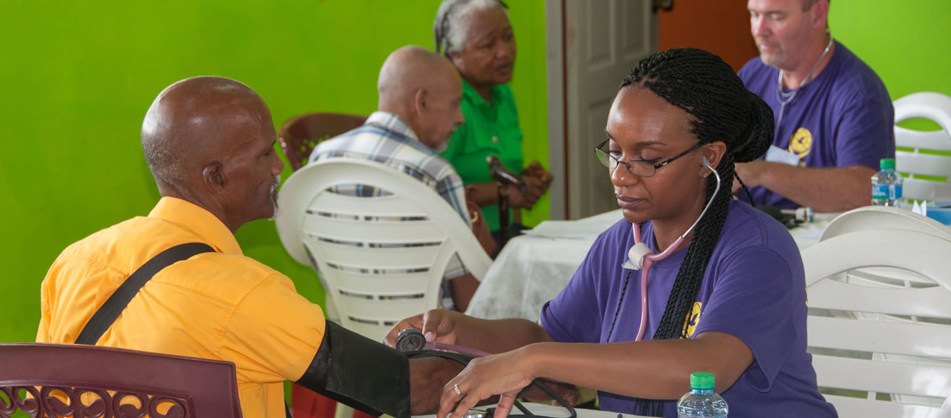 <strong>Serving the community</strong>         <br/>Recent health programme at Sangre Grande church and school
